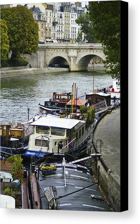 France Canvas Print featuring the photograph Living Aboard by Julie Black