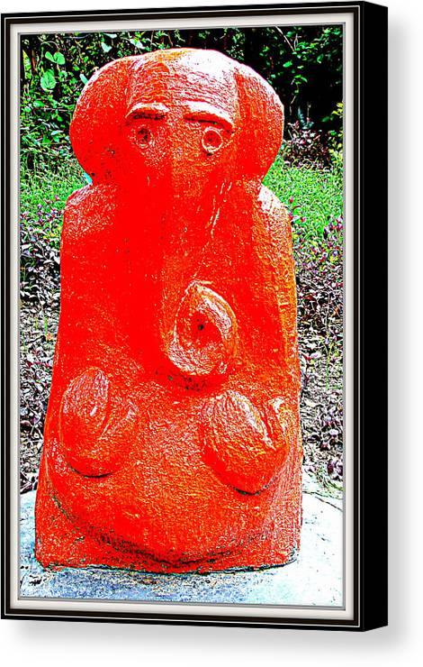 Sculptures From My Garden Canvas Print featuring the sculpture Lord Ganesha by Anand Swaroop Manchiraju