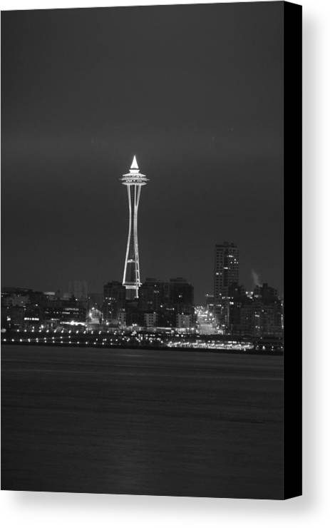 Seattle Canvas Print featuring the photograph Monochrome Needle by Michael Merry