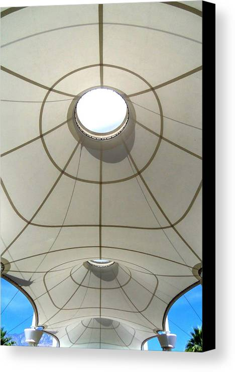 Airport Canvas Print featuring the photograph Palm Springs International Airport Sonny Bono Concourse by Randall Weidner