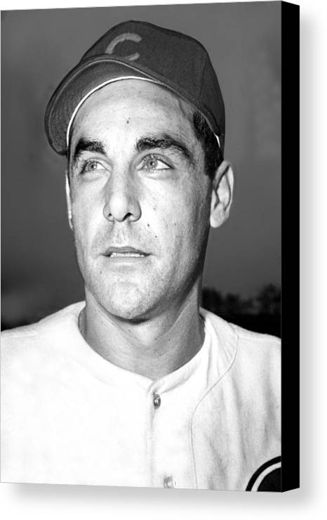 1940s Canvas Print featuring the photograph Phil Cavarretta, Lefty First Baseman by Everett