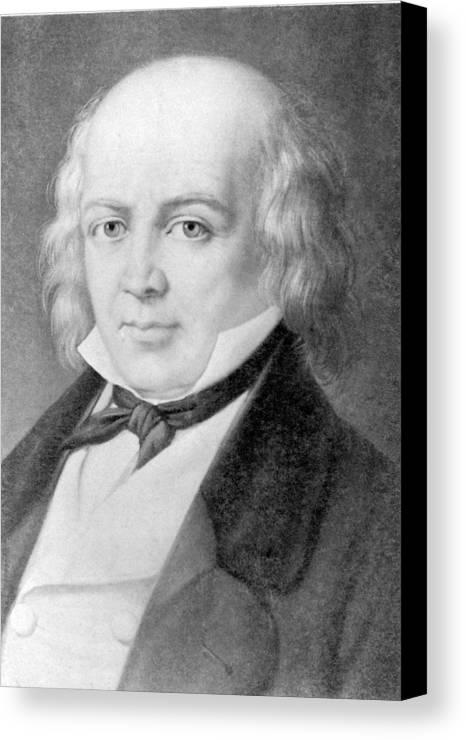 History Canvas Print featuring the photograph Pierre Jean De B�ranger 1780-1857 by Everett