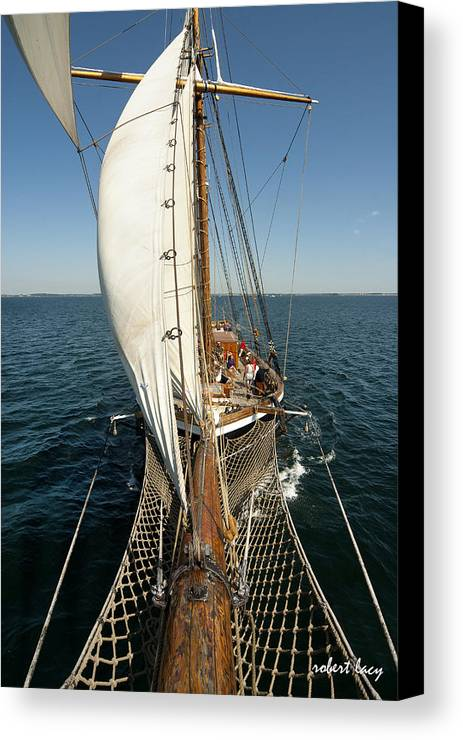 Tall Ships Canvas Print featuring the photograph Riding The Breeze by Robert Lacy