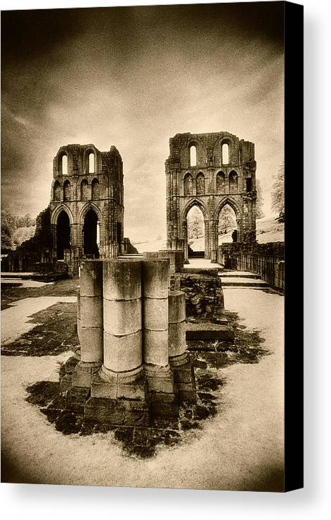 Halloween Canvas Print featuring the photograph Roche Abbey by Simon Marsden