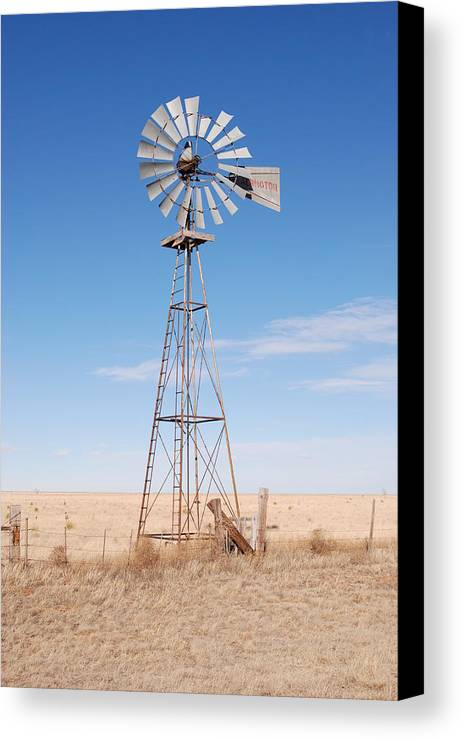 Abandoned Canvas Print featuring the photograph Rural Windmill by Melany Sarafis