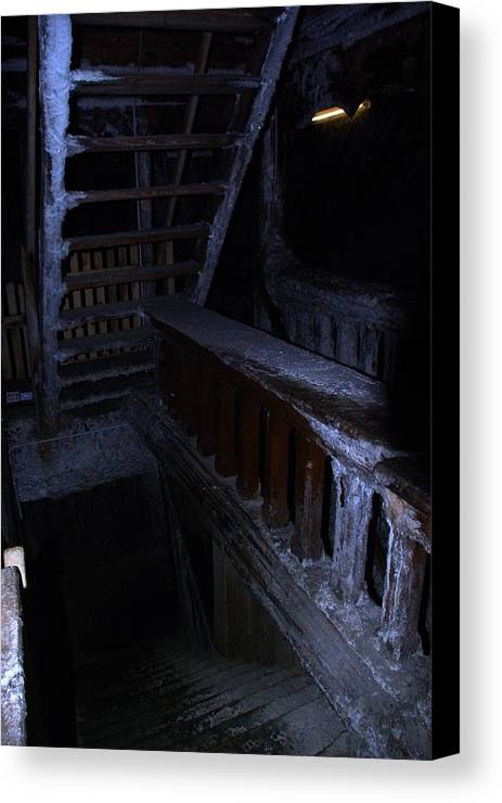Salt Mine Canvas Print featuring the photograph Salt Mine Entry by AmaS Art