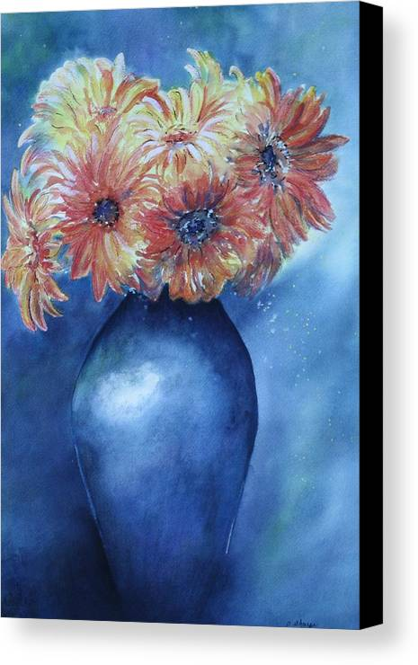 Sunburst Floral Still Life Canvas Print featuring the painting Sunrise by Patsy Sharpe