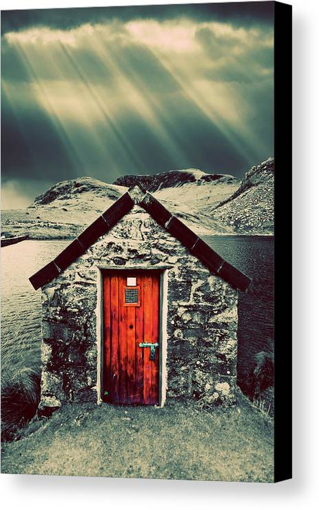 Snowdonia Canvas Print featuring the photograph The Boathouse by Meirion Matthias