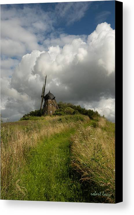 Windmill Canvas Print featuring the photograph The Mill At Aarup by Robert Lacy
