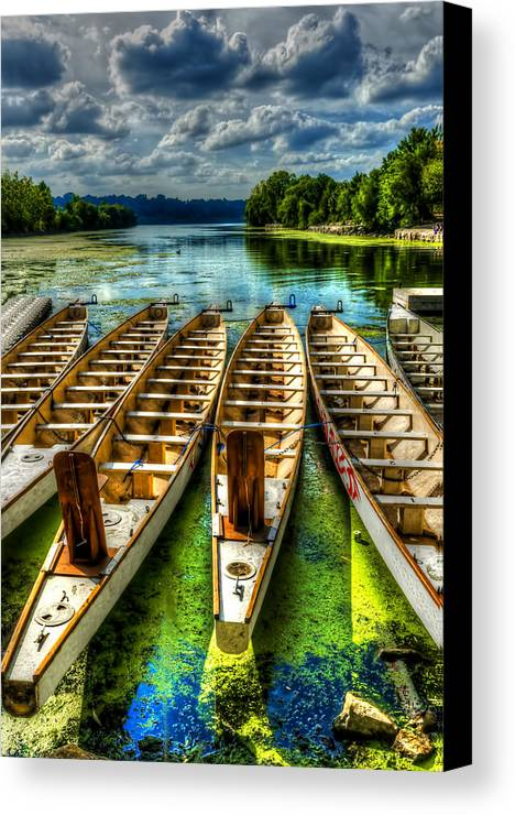 Lake Canvas Print featuring the photograph The Sea Awaits by Sarah Hauck