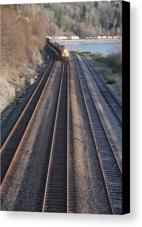 Train Canvas Print featuring the photograph Train by Michael Merry