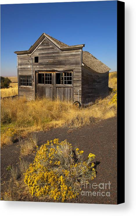 Ruin Canvas Print featuring the photograph Under The Weight Of It All by Mike Dawson