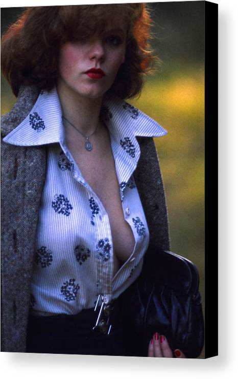 Femme Fatale Canvas Print featuring the photograph Vamp Or Femme Fatale by Franz Roth