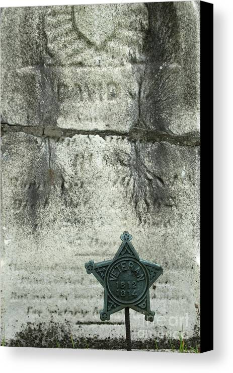 Cemetery Canvas Print featuring the photograph War Of 1812 Veteran by Paul W Faust - Impressions of Light