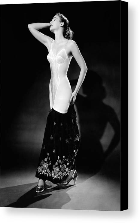 History Canvas Print featuring the photograph Warner Corset Provided Full Body by Everett