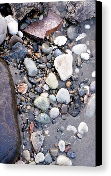 Rocks Canvas Print featuring the photograph Wet Stones by Dwayne Davis