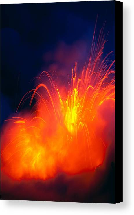 A28g Canvas Print featuring the photograph Exploding Lava by Greg Vaughn - Printscapes