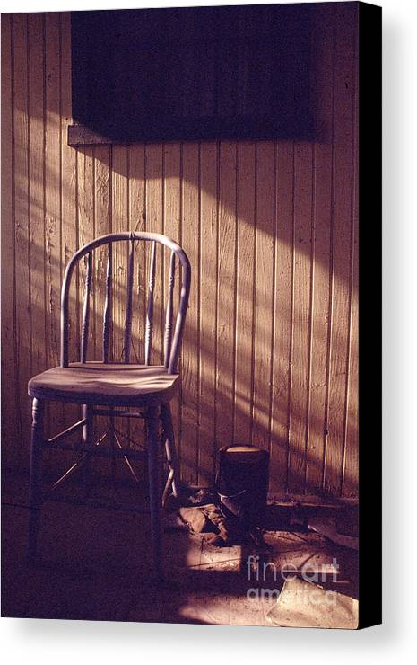 Chair Canvas Print featuring the photograph Just Stepped Out For Sugar by Steven Godfrey