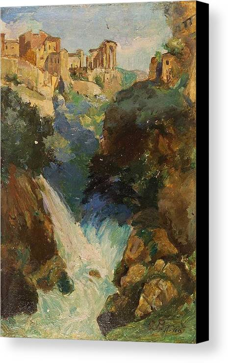 Giuseppe Pastina Andria 1863 - Roma 1942 Tivoli Canvas Print featuring the painting Roma by MotionAge Designs