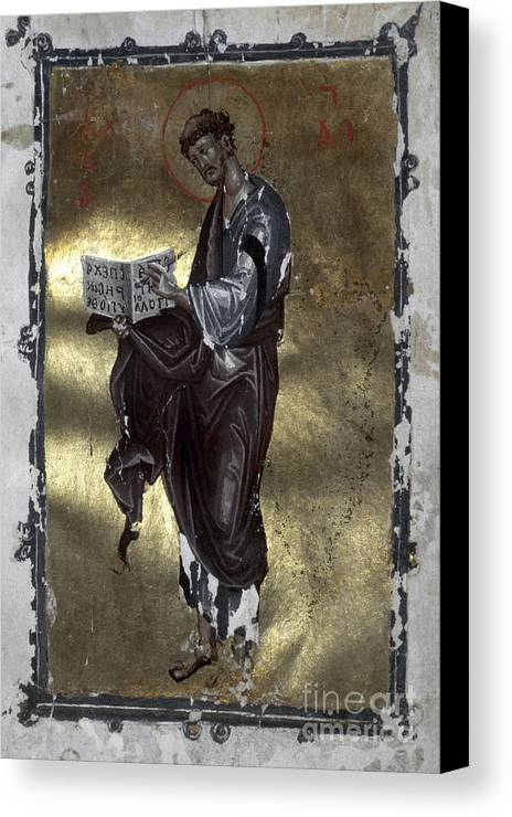 13th Century Canvas Print featuring the painting Saint Luke by Granger