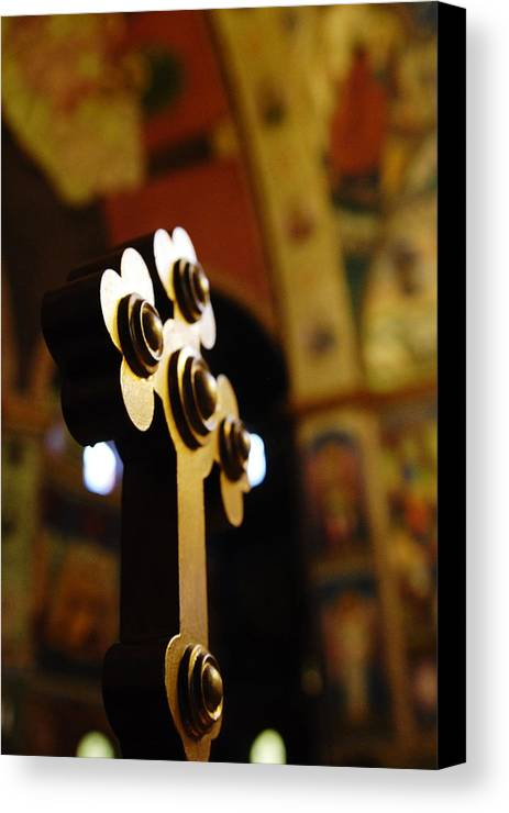 Church Canvas Print featuring the photograph Sursum Corda by Mihail Antonio Andrei