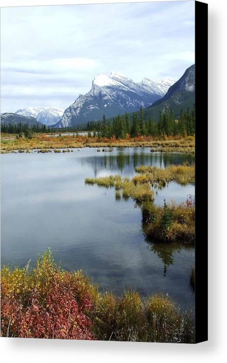 Banff National Park Canvas Print featuring the photograph Vermillion Lakes by Tiffany Vest