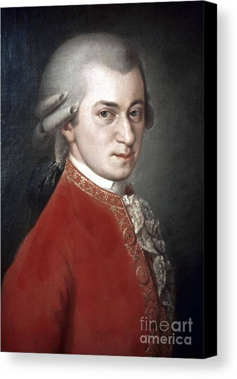 18th Century Canvas Print featuring the photograph Wolfgang Amadeus Mozart by Granger