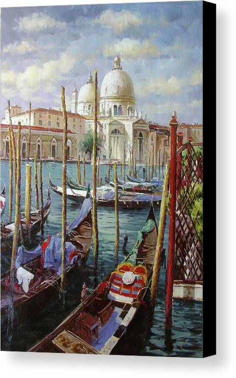 Venice Canvas Print featuring the painting Venice by Lucio Campana