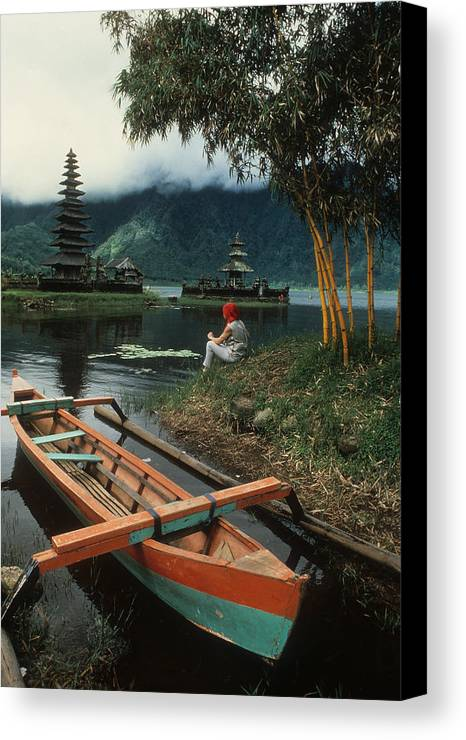 Outrigger Canvas Print featuring the photograph A Magic Moment On The Island Of Bali by Carl Purcell