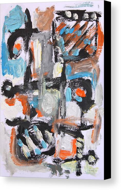 Canvas Print featuring the painting Abstract 6834 by Michael Henderson
