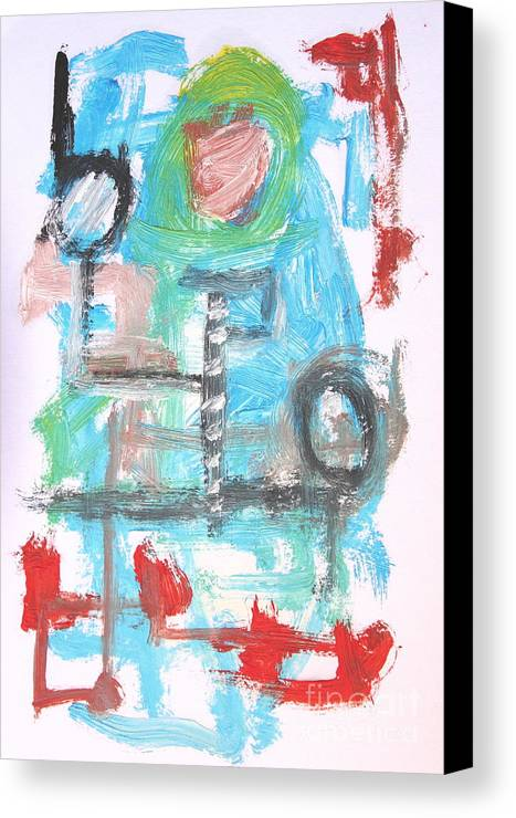 Abstract Canvas Print featuring the painting Abstract 6836 by Michael Henderson