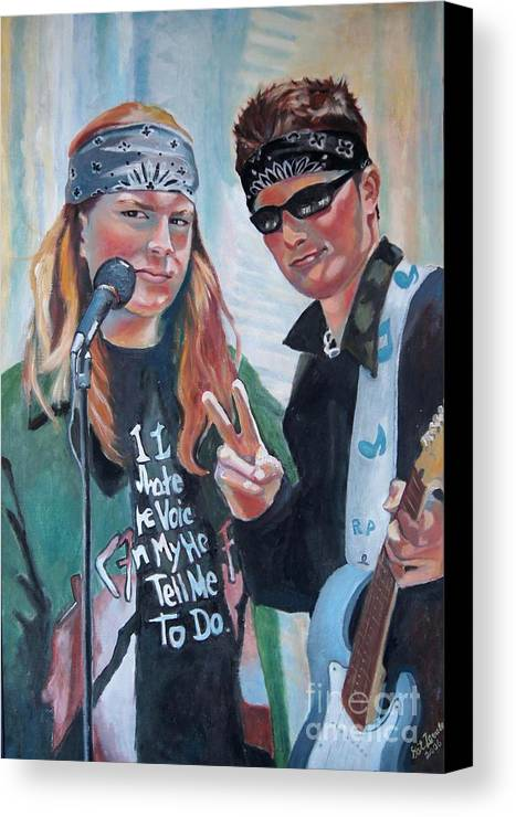Music Canvas Print featuring the painting After The Gig by Gail Zavala