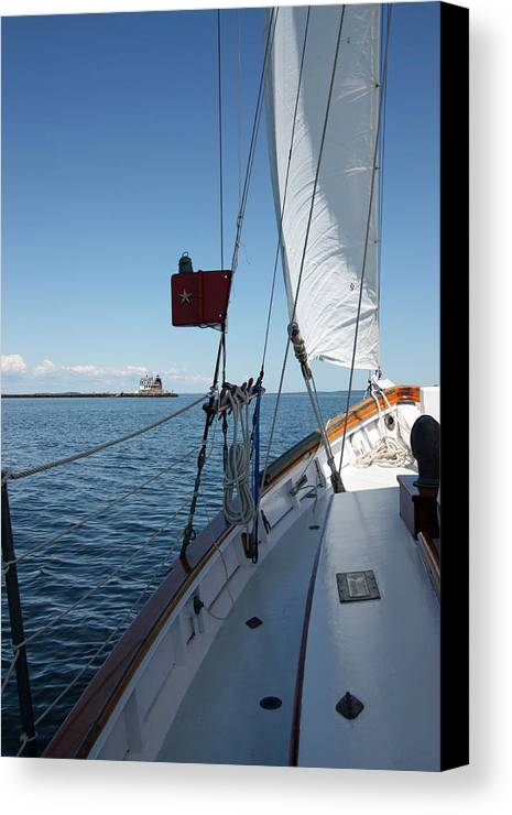 Sailing Canvas Print featuring the photograph Ahoy by Becca Brann