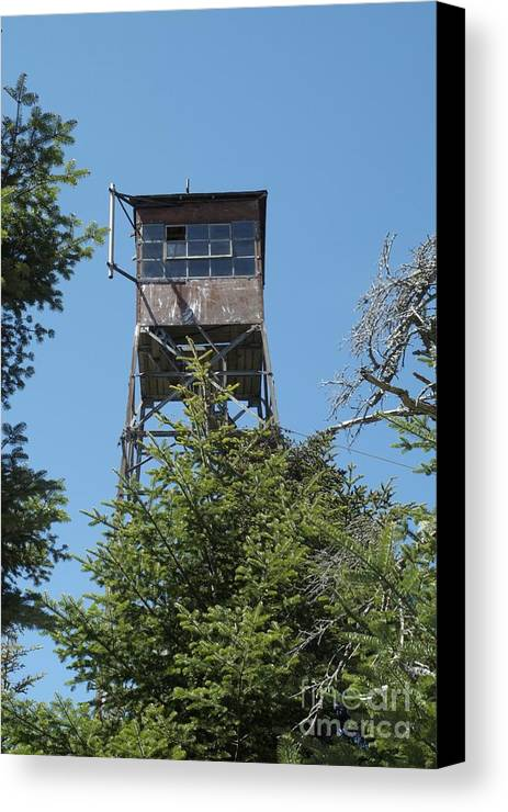 Firetower Canvas Print featuring the photograph Appalachian Trail - Smarts Mountain New Hampshire Usa by Erin Paul Donovan