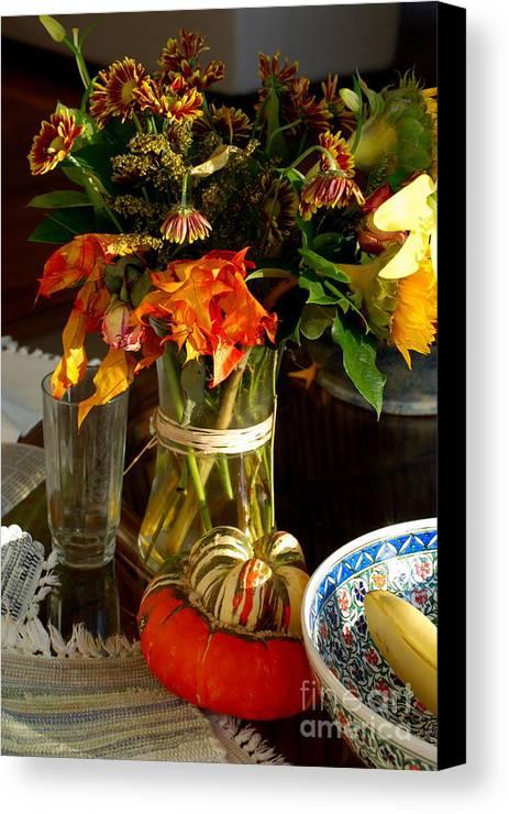 Still Life Canvas Print featuring the photograph Autumn Still Life by Andrea Simon