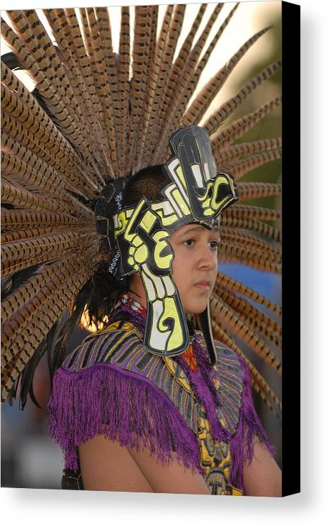 Dancer Canvas Print featuring the photograph Aztec Dancer by Dennis Hammer