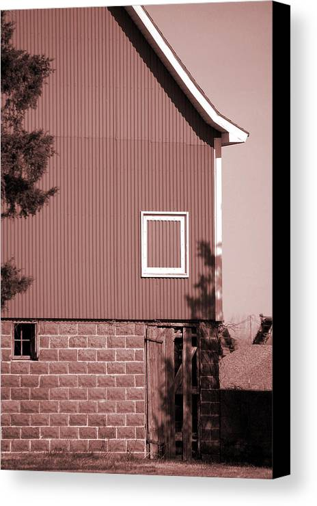 Barn Canvas Print featuring the photograph Barn Detail by Jame Hayes