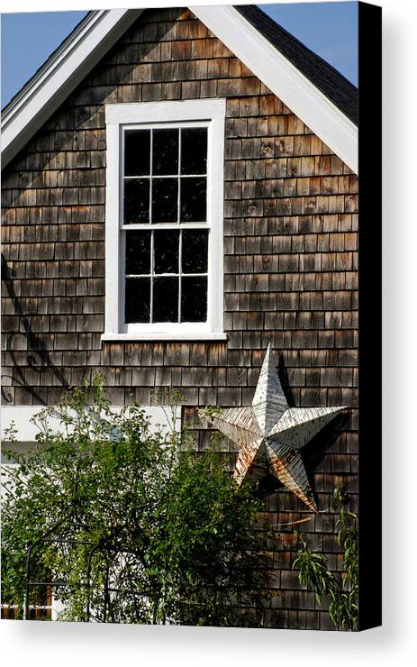 Country Canvas Print featuring the photograph Barn With Star by Mark Wiley