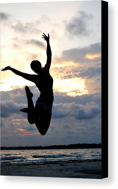 Beach Canvas Print featuring the photograph Beach Silhouette by Trudi Southerland