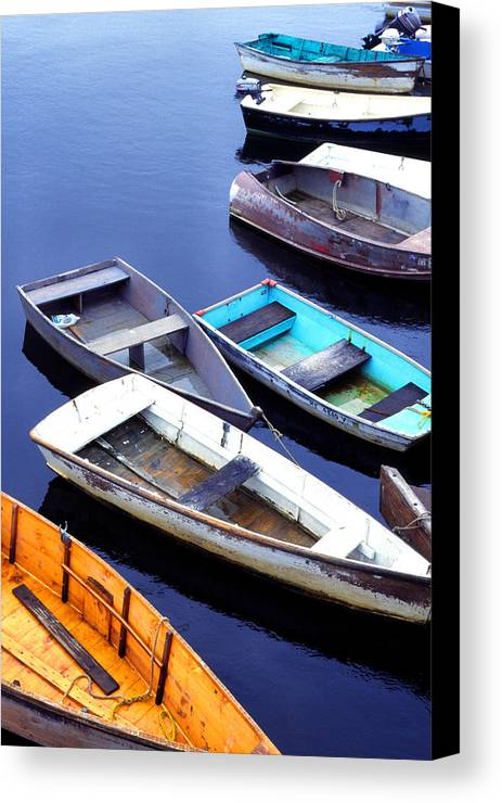 Boatyard Canvas Print featuring the photograph Boat Dock Camp Ellis by Thomas R Fletcher