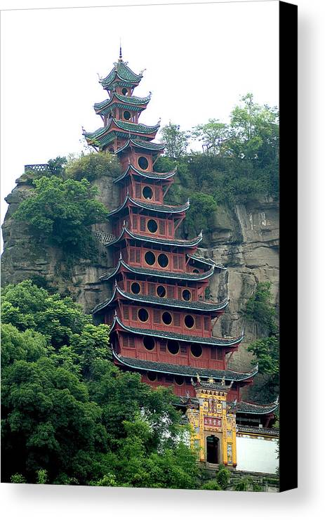 China Canvas Print featuring the photograph Chna by Charles Ridgway