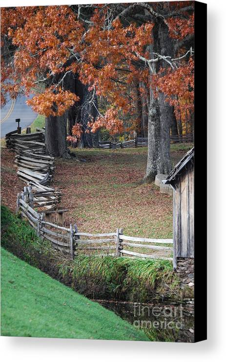 Archecture Canvas Print featuring the photograph Crooked Fence by Eric Liller