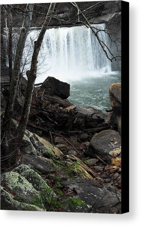 Cumberland Falls Canvas Print featuring the photograph Cumberland Falls Ky One by Steven Crown