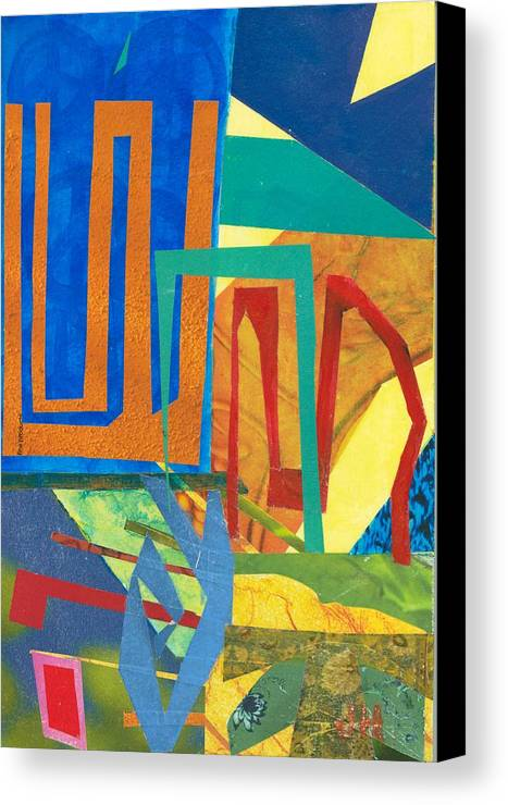Abstract Art Canvas Print featuring the mixed media Day Tripper by Jerry Hanks