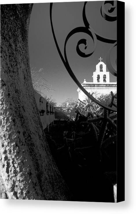 Arizona Desert Photography Canvas Print featuring the photograph Desert Chapel by John Gee