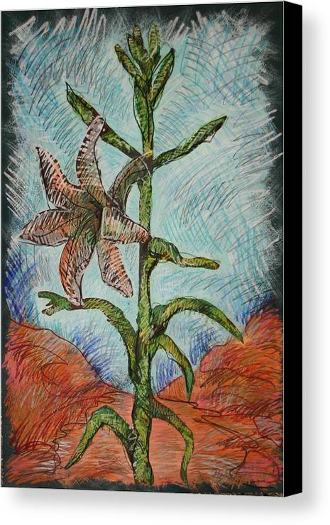Lily Canvas Print featuring the painting Desert Lily by Dodd Holsapple