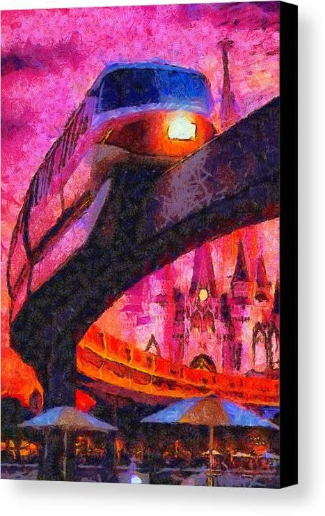 Fine Art Print Disney Monorail Poster