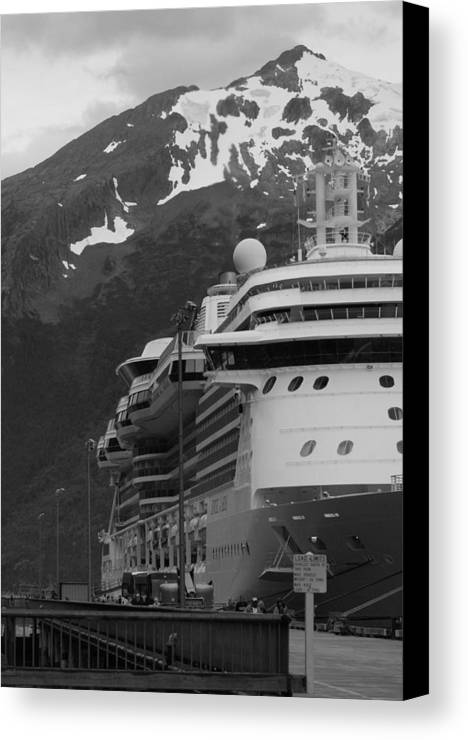 Skagway Canvas Print featuring the photograph Dockside In Skagway by Maria Keady