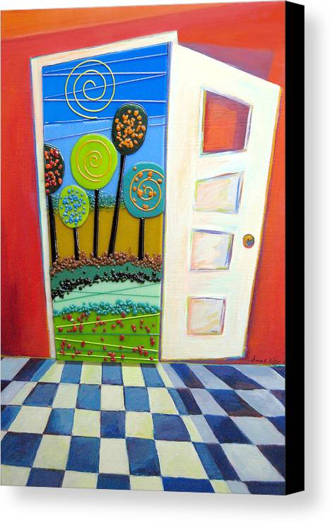 Destiny Canvas Print featuring the painting Doorway To Somewhere by Anne Nye