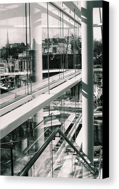 Madison Canvas Print featuring the photograph Downtown Abstract 3 by Gary Everson